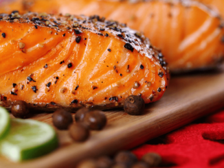 A image of grill chili lime salmon