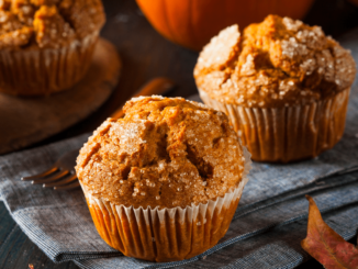 Some cakes of pumpkin muffins