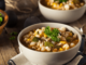 Two bowls of chicken chili soup