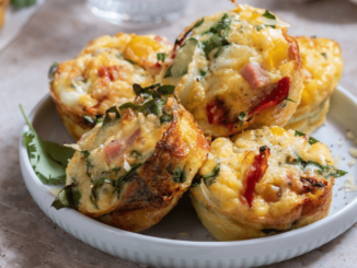 A dish of egg muffins