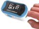 Oximeter with brand of ChoiceMMed with blue color