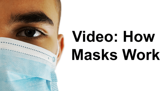 A half face of man wearing a medical mask